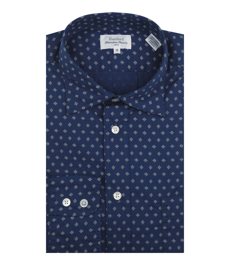 be8fc642dda81 HARTFORD - PURE COTTON PAUL SHIRT WITH ALL OVER PRINT