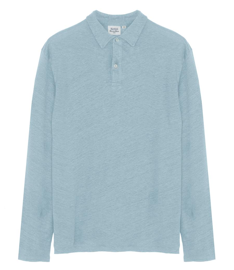 Linen Long Sleeve Polo Shirt Polos Soho T