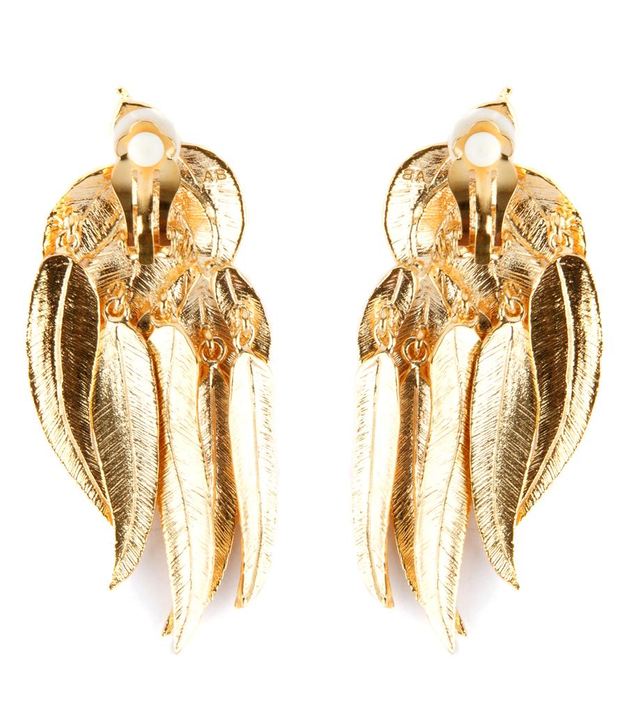 Elvira Gold-plated Clip Earrings - one size Aur N9WIi