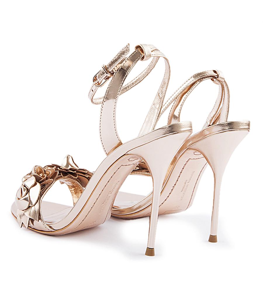 f520a7a0992ca Rose gold lilico flower embellished high heel sandals high heel jpg  900x1036 Rose gold heels with