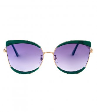 JP JOHN PAN EYEWEAR - URANUS GREEN-GOLD METALLIC ACETATE