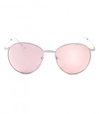 JP JOHN PAN EYEWEAR - MARS SILVER METALLIC WINE RED TRASPARENT
