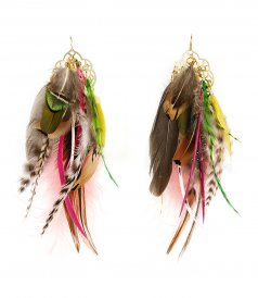 ACCESSORIES - FEATHERS EARRINGS 04