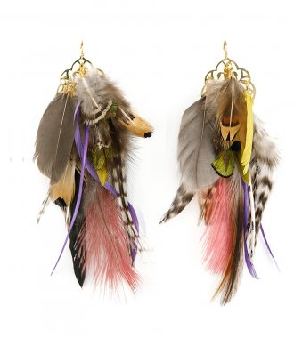FEATHER COLLECTION FOR SOHO-SOHO - FEATHERS EARRINGS 05