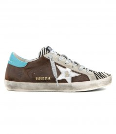 GOLDEN GOOSE  - BROWN SUEDE SUPERSTAR SNEAKERS