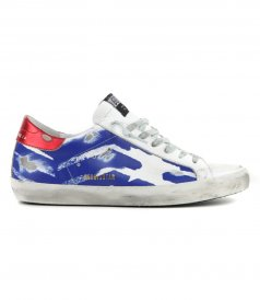 SHOES - WHITE BLUE RED SUPERSTAR SNEAKERS